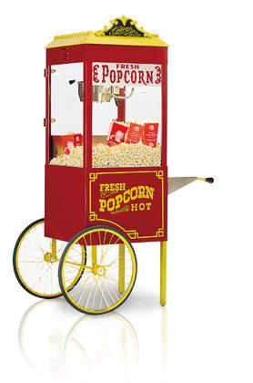 Een popcornmachine koopt je hier